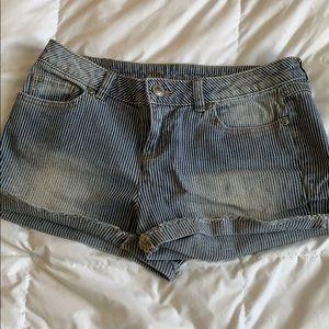 Lauren Conrad pinstripe Jean shorts